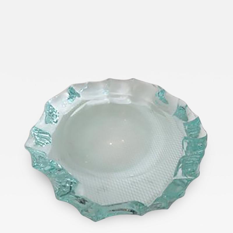 Pietro Chiesa Italian Glass Dish or Vide Poche by Pietro Chiesa for Fontana Arte