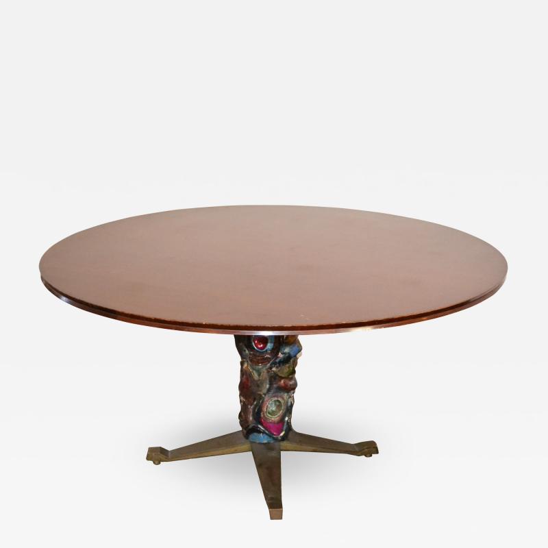 Pietro Melandri Table by Melchiorre Bega and Pietro Melandri for a private Villa Unique piece
