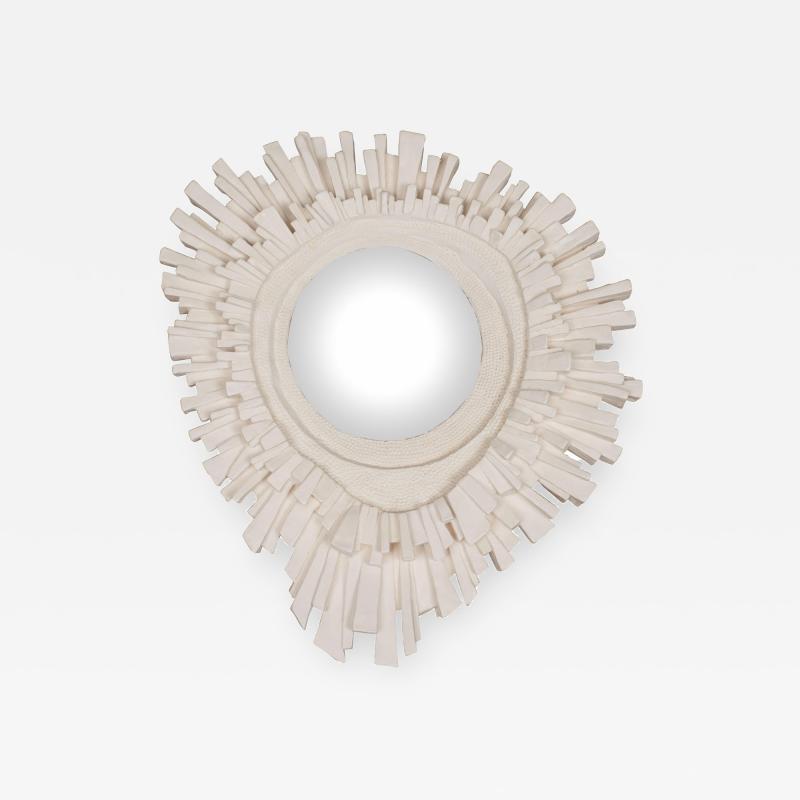 Plaster Sunburst Mirror