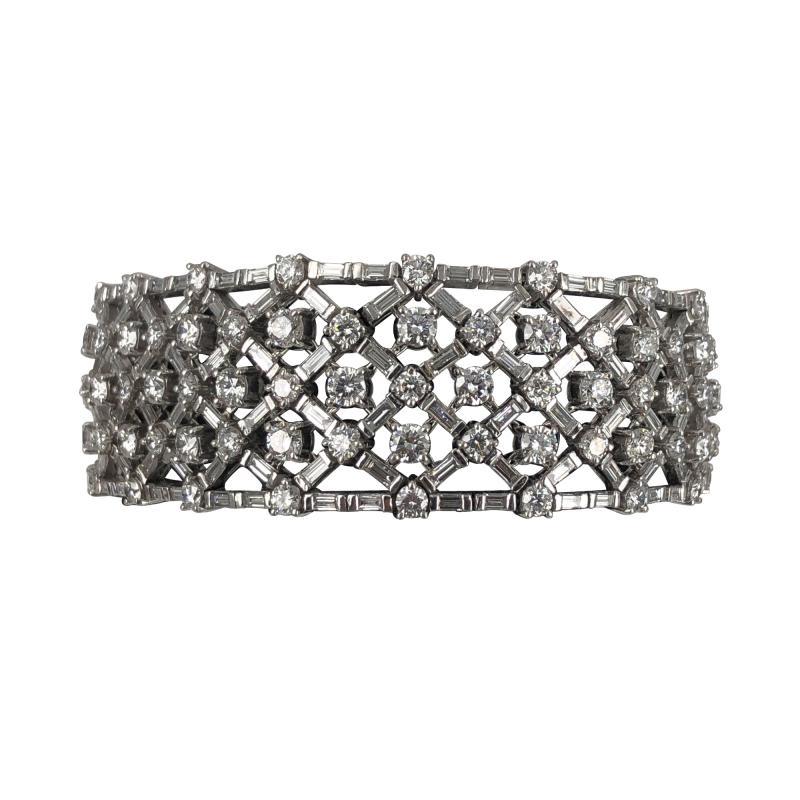 Platinum diamond bracelet