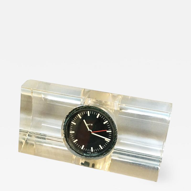 Plexiglass Ritz clock 1970s
