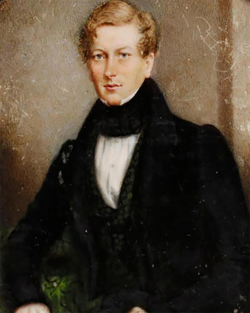 Portrait Miniature of Sir George Douglas Baronet by J C D Engleheart 1821