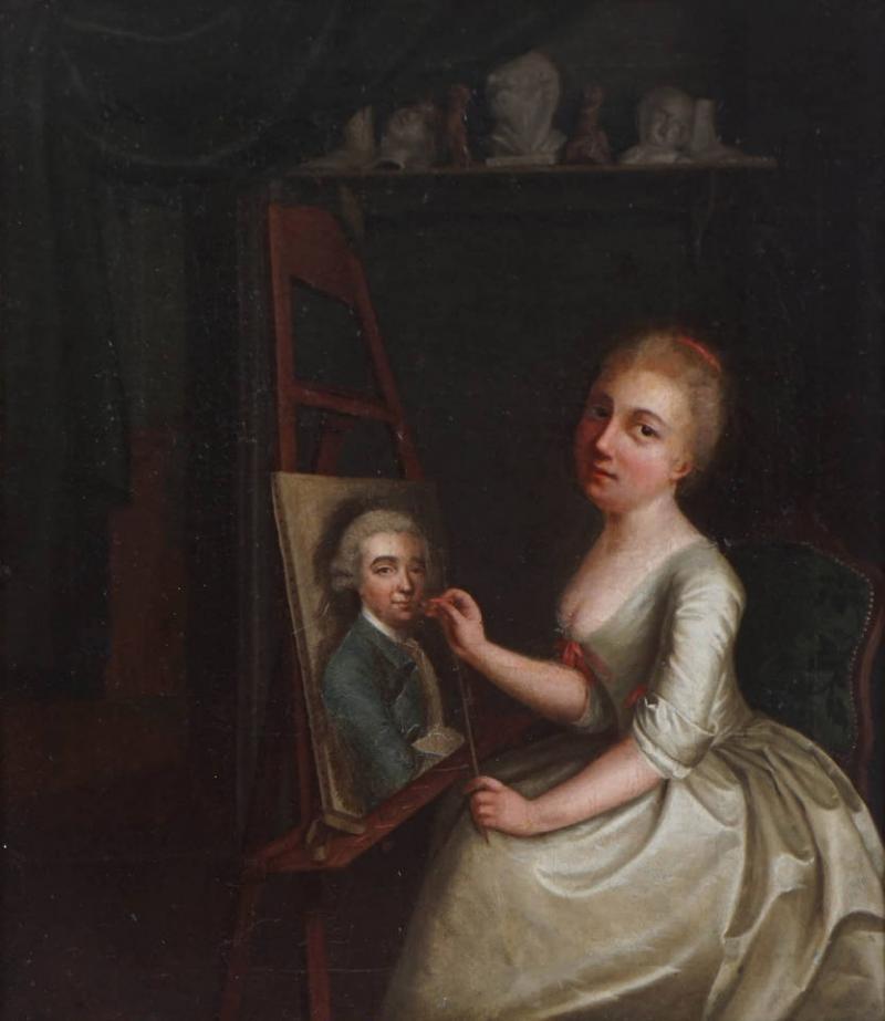 Portrait Painting of Rosalba Carriera