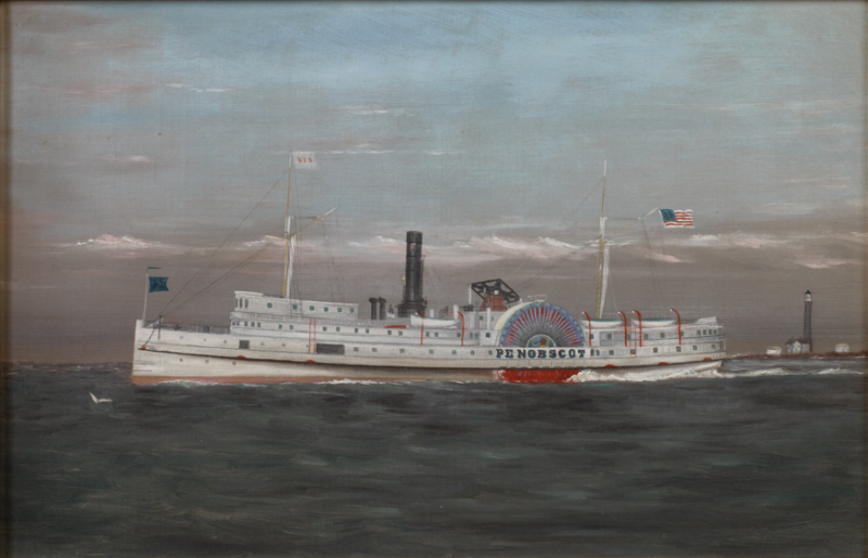 Portrait of the Paddle Wheel Ship Penobscot