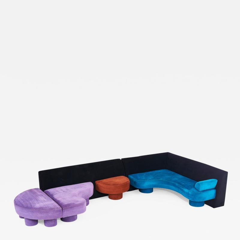 Postmodern Sectional Sofa 1980