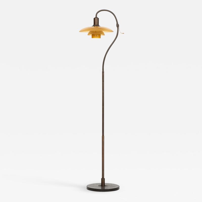 Poul Henningsen Floor Lamp Model The Question Mark Produced by Louis Poulsen