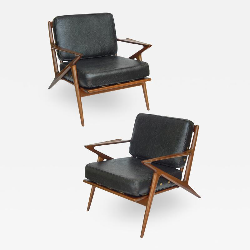 Poul Jensen Danish Modern Z Lounge Chairs by Poul Jensen