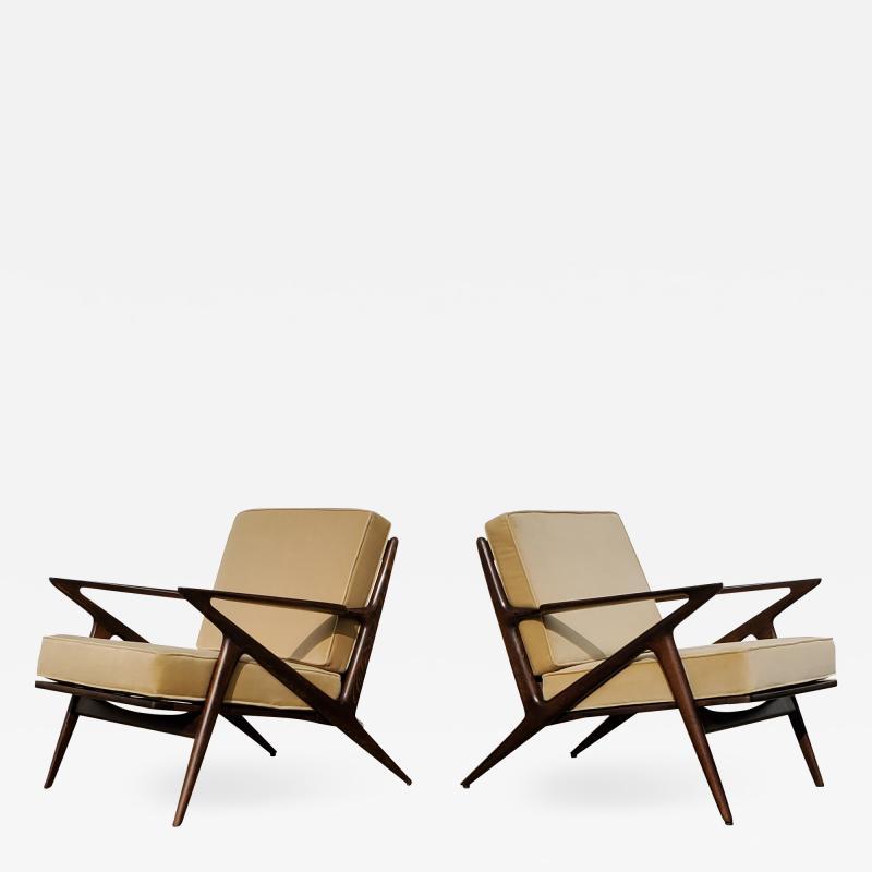 Poul Jensen Pair of Poul Jensen Z Lounge Chairs for Selig Denmark