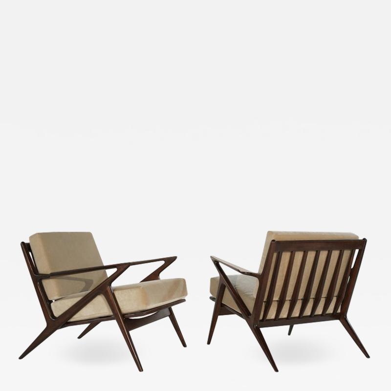 Poul Jensen Poul Jensen for Selig Z Lounge Chairs Denmark circa 1950s