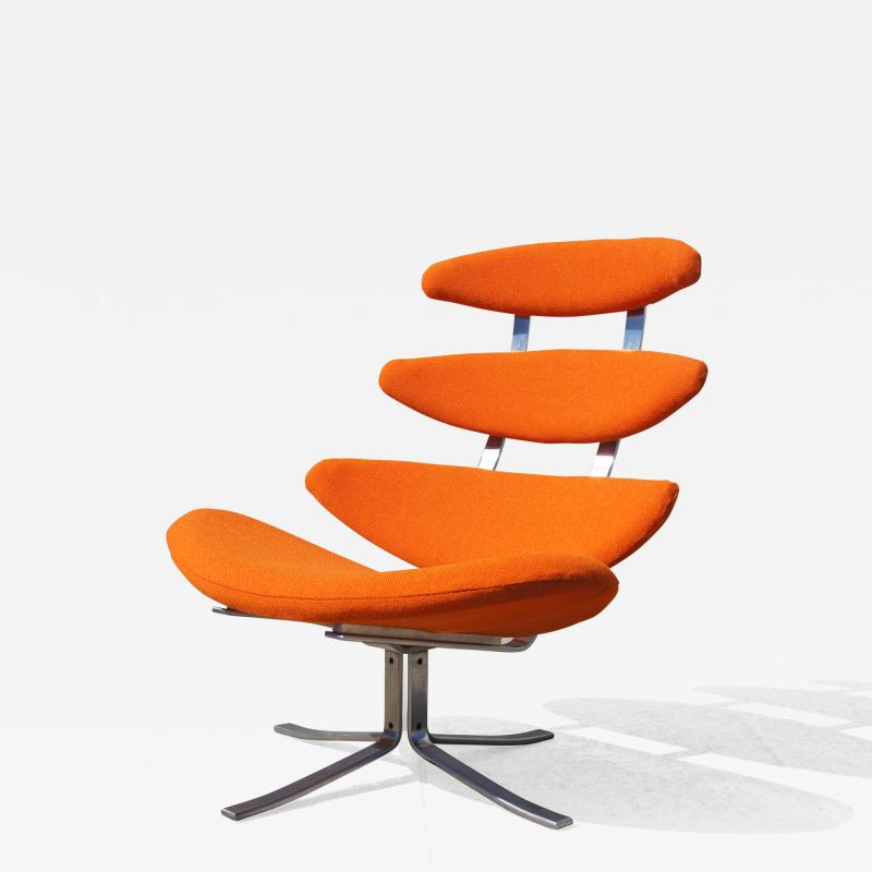 Poul M Volther Corona Chair Model EJ 5 by Poul M Volther for Erik J rgensen