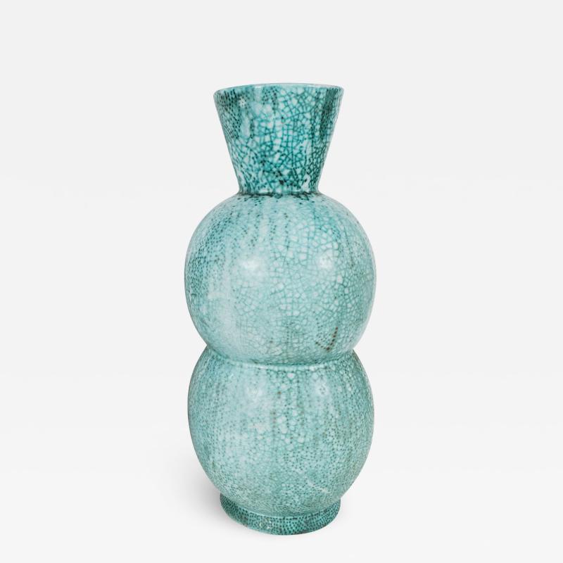 Primavera Atelier du Printemps LARGE BLUE GREEN GOURD SHAPED PRIMAVERA VESSEL