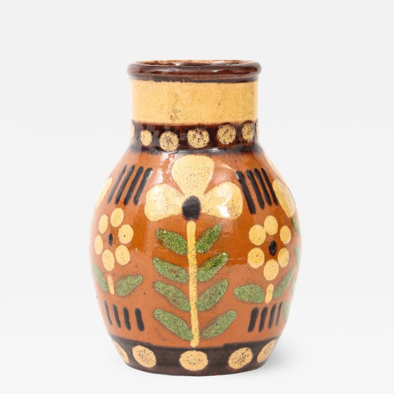 Primavera Atelier du Printemps Signed Primavera Ceramic Vase from Soufflenheim France