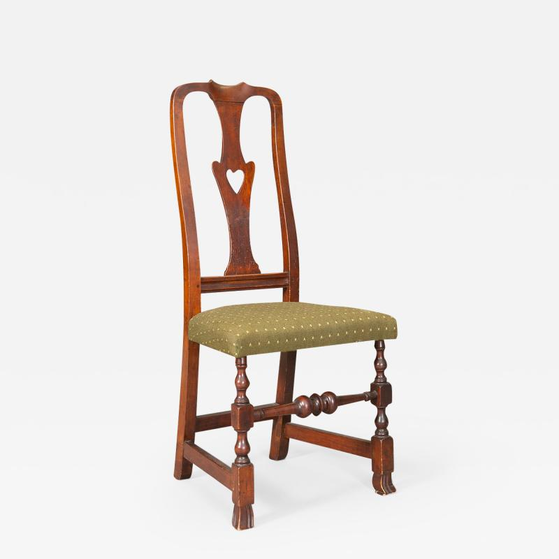 QUEEN ANNE SIDE CHAIR WITH HEART FORM SPLAT