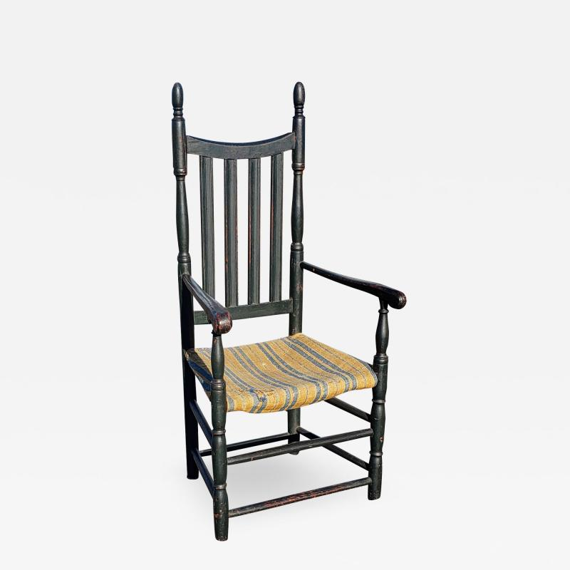 Queen Anne Bannister Back Armchair Connecticut River Valley