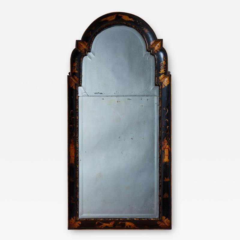 Queen Anne Chinoiserie Cushion Mirror