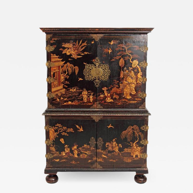 Queen Anne Collectors Cabinet Japanned