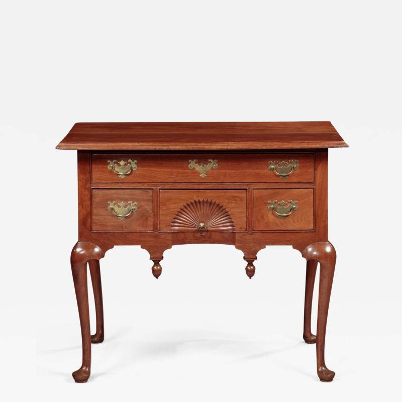 Queen Anne Lowboy with a Fan Carved Drawer