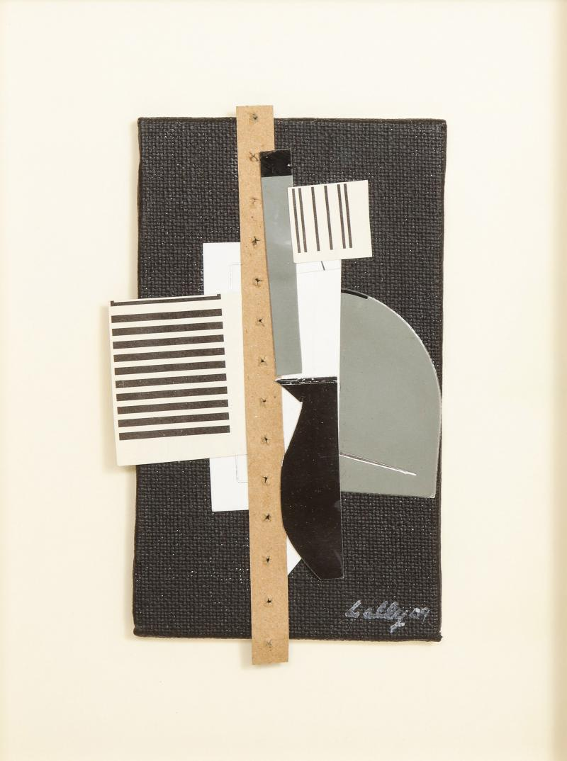 R Scott Lalley R Scott Lalley Collage with Perforated Paper Strip 2009