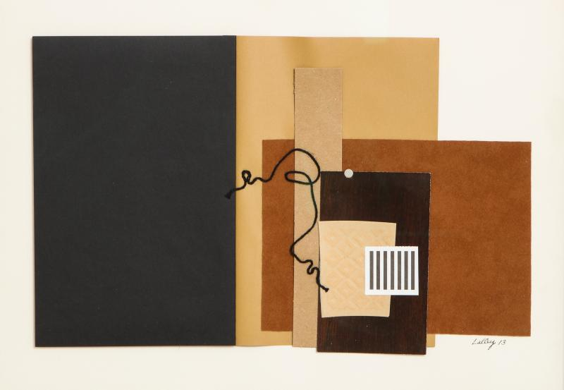 R Scott Lalley R Scott Lalley Unfinished Novel 2014 Paper Collage on Paper with String