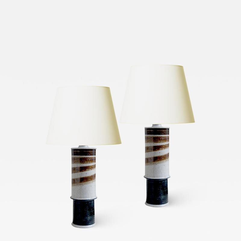R rstrand Studio Pair of Mod Brutalist Lamps by Rorstrand Atelier