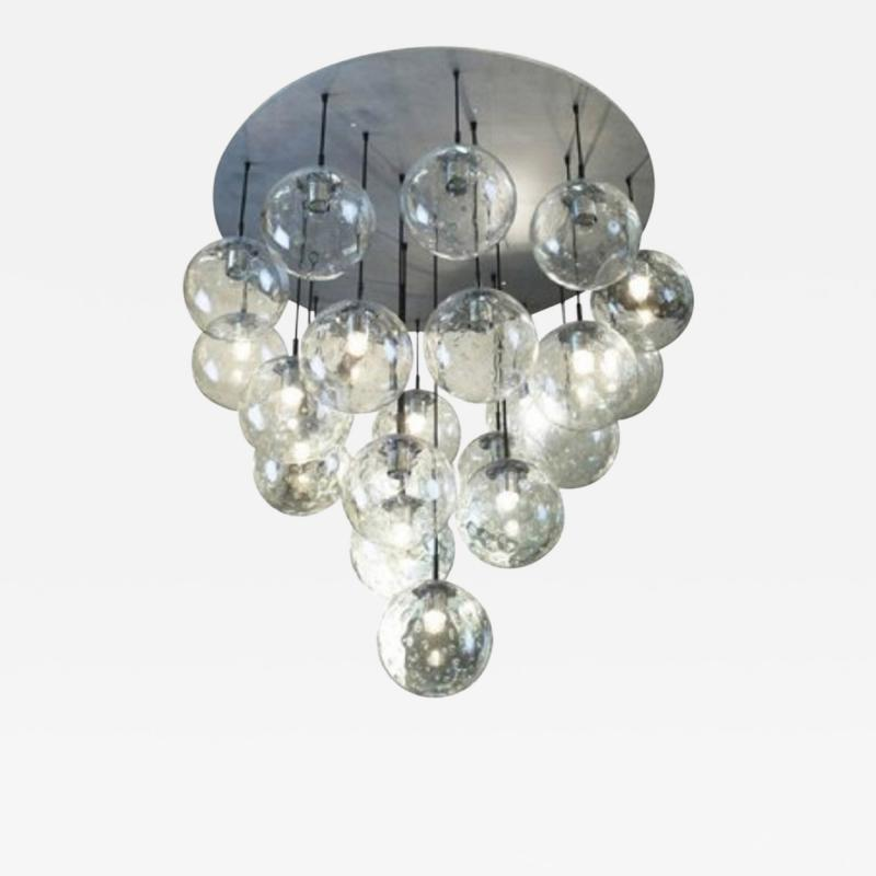 RAAK 1970s huge glass balls chandelier by RAAK Amsterdam