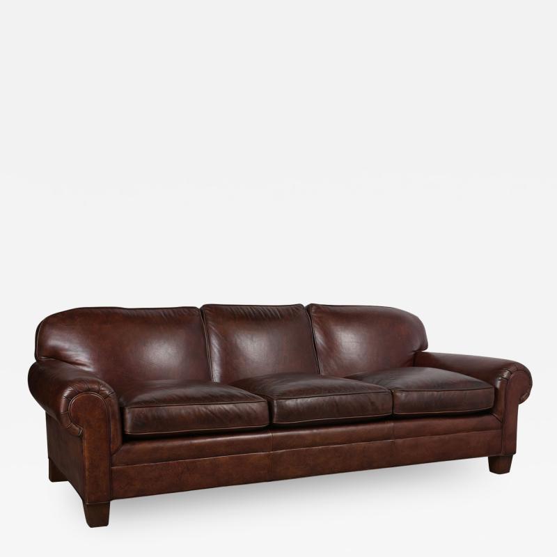 Ralph Lauren Restored Ralph Lauren Leather Sofa