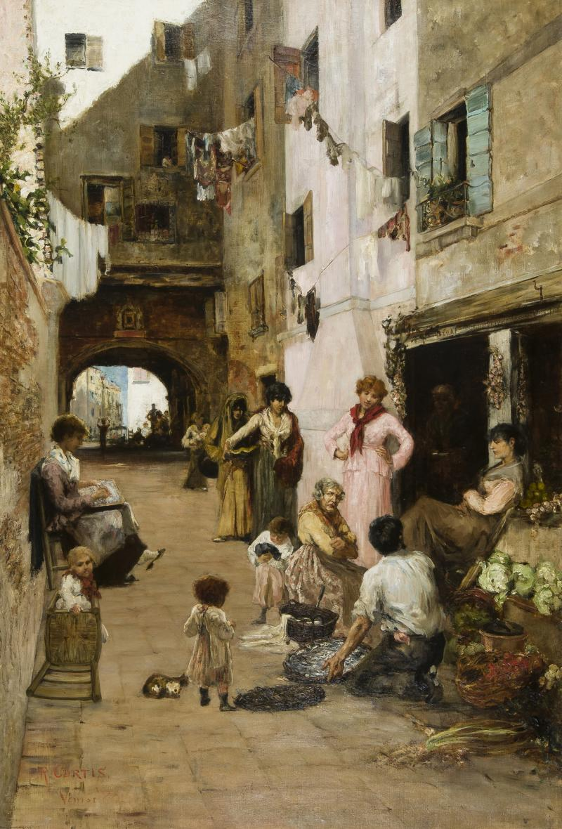 Ralph Wormley Curtis A Street in Venice