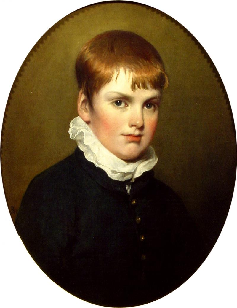 Ramsay Richard Reinagle Portrait of a Young Boy in a Black Coat
