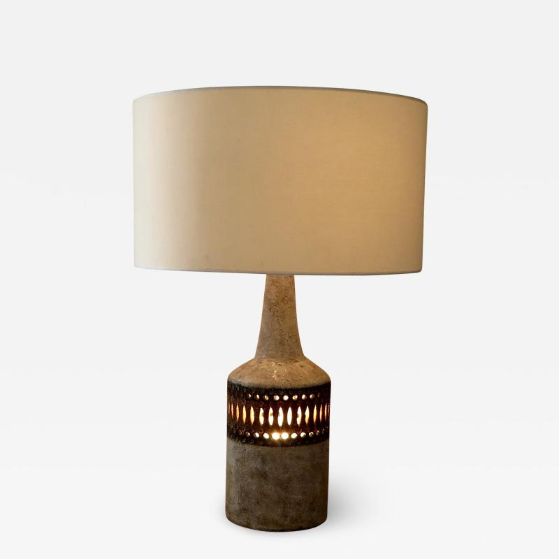 Raphael Giarrusso Raphael Giarrusso French Ceramic Table Lamp Accolay 1968