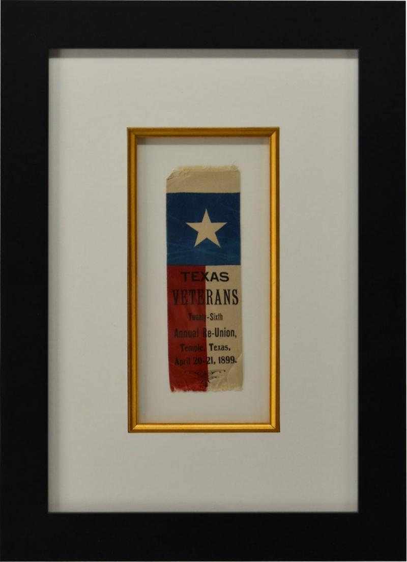 Rare 1889 Texas Revolutionary War Veteran Reunion Ribbon
