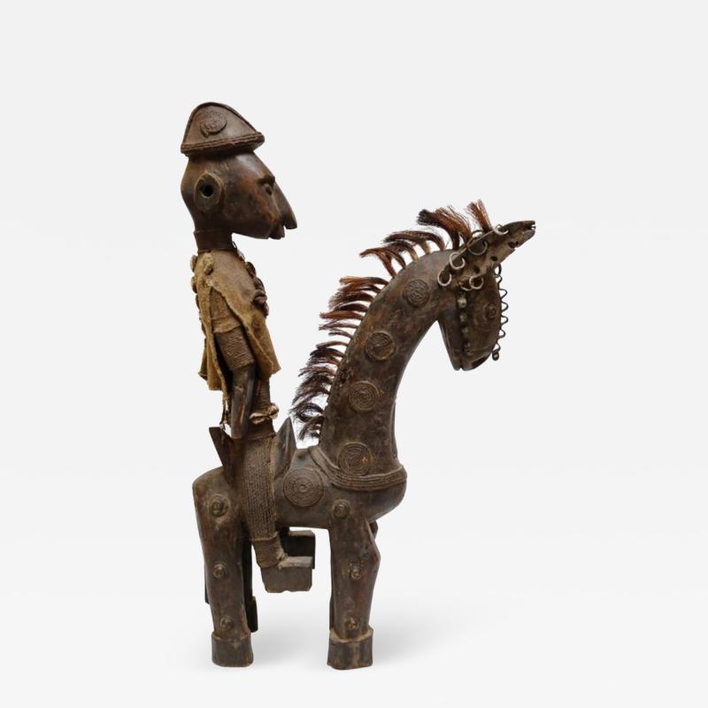Rare African Horseman Statute