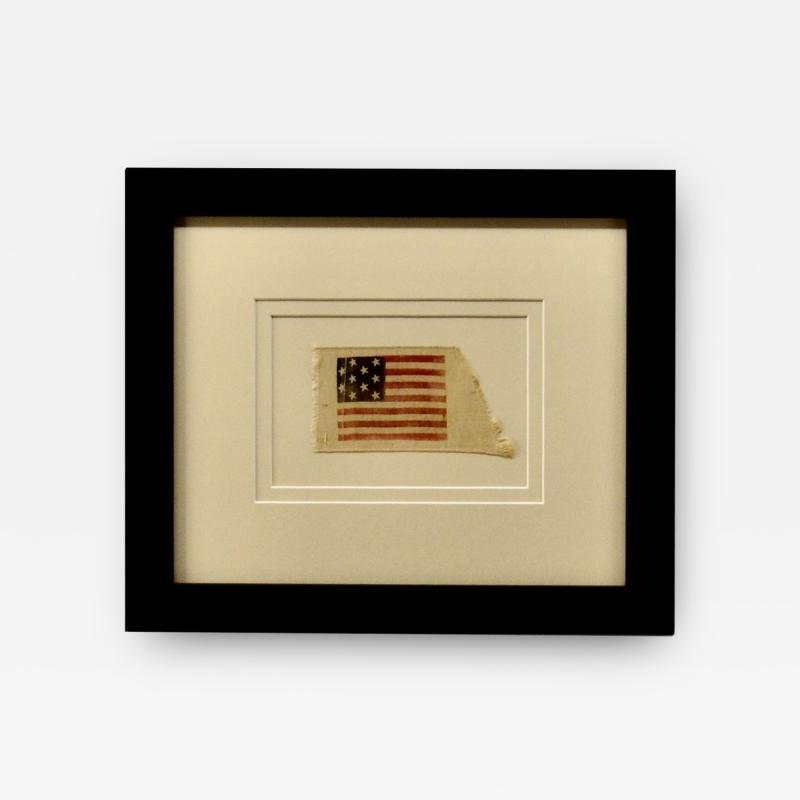 Rare Antique 10 Star American Flag Ribbon Virginia