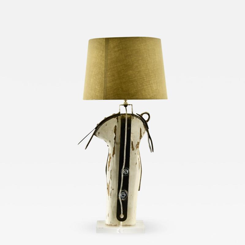 Rare Antique Yacht Mast Table Lamp