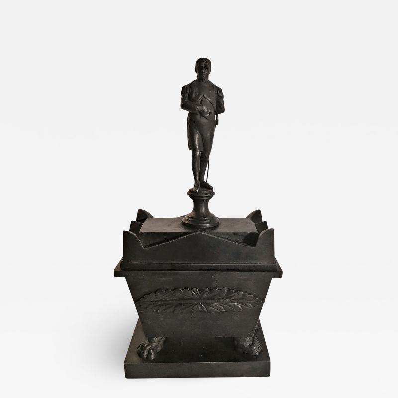 Rare Bronze Napoleon Inkwell Circa 1850 France