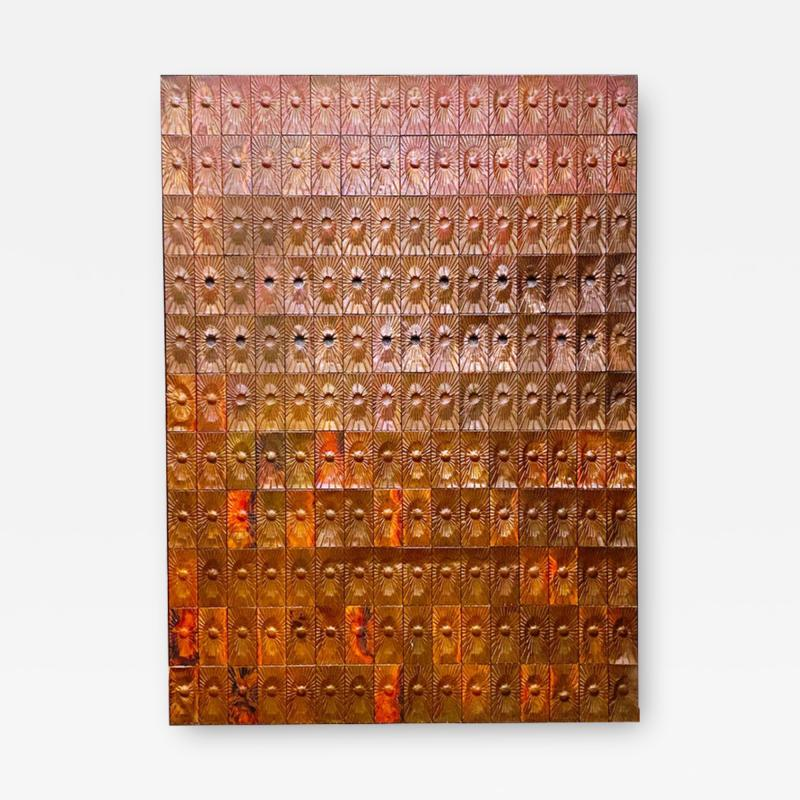 Rare Copper Wall Panelling Cladding by Edit Oborzil 1971