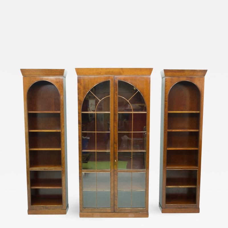 Rare Hans Hopfer Display Bookcase Cabinet Cherrywood WK Germany