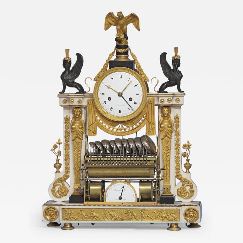 Rare Louis XVI French Musical Mantle Clock
