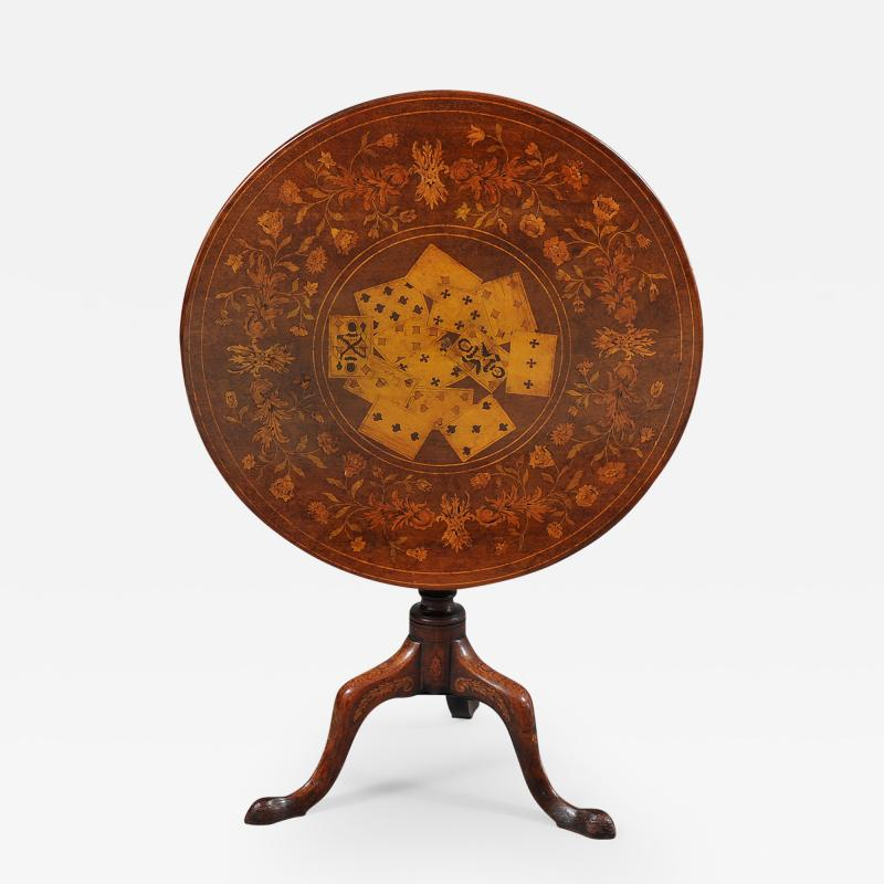 Rare Marquetry Inlaid Tea Table