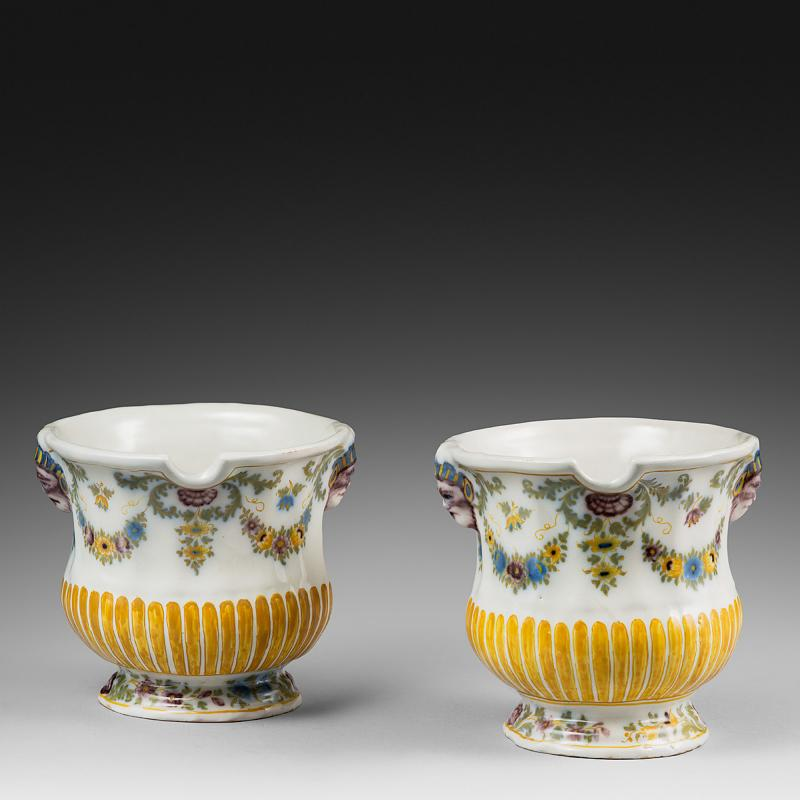 Rare Pair of 18th Century Glass Coolers