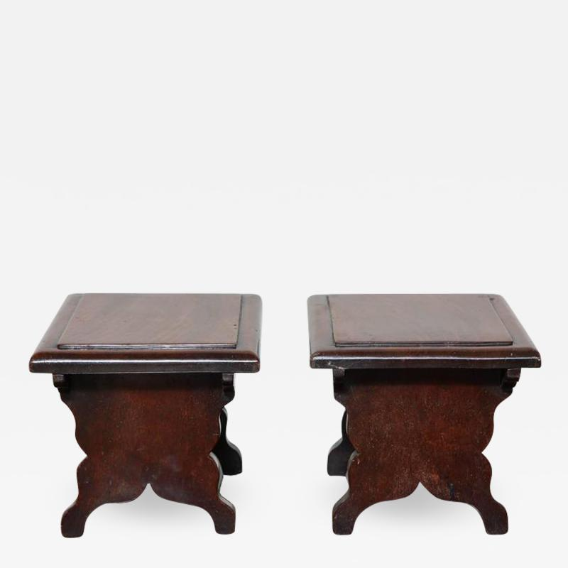 Rare Pair of Georgian Dresser Stools