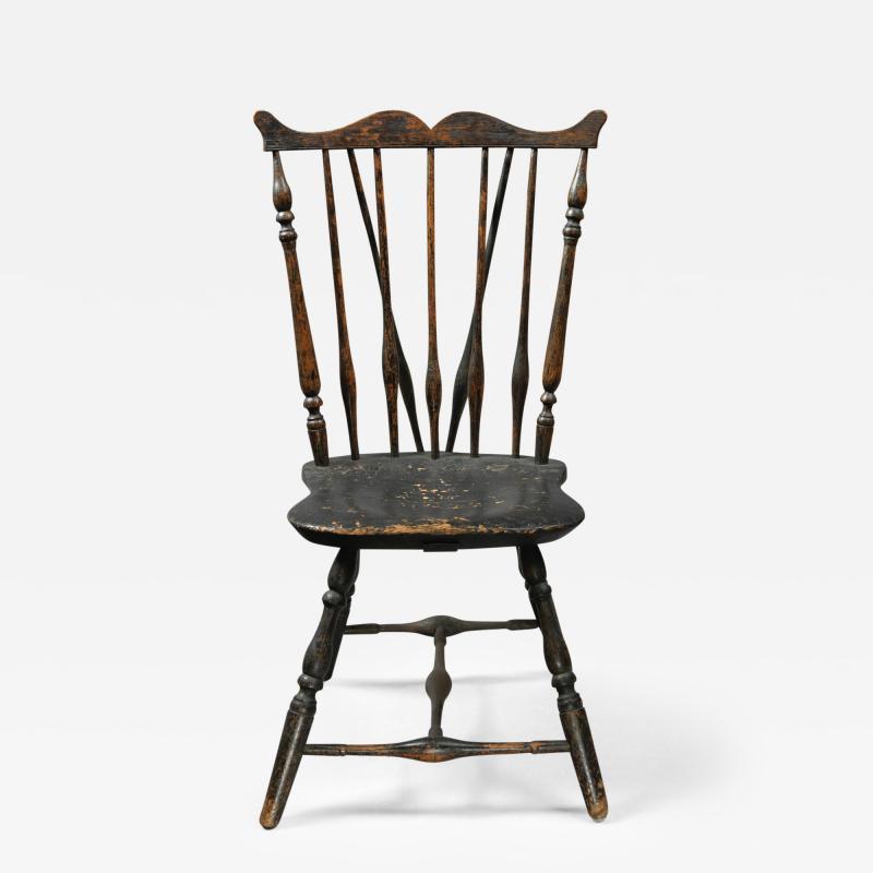 Rare Windsor Brace Back Side Chair Connecticut Circa 1760