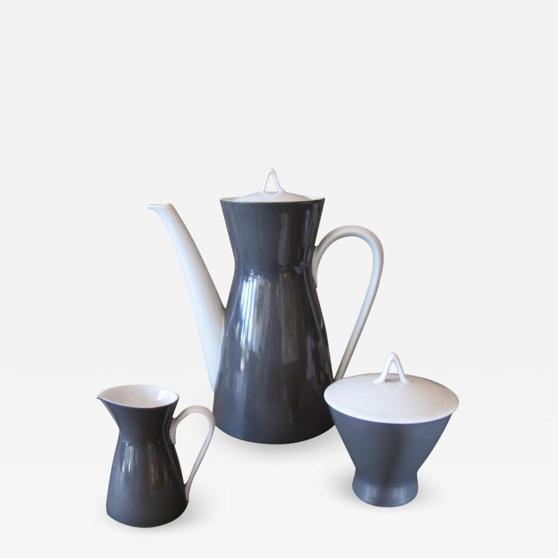 Raymond Loewy After Dinner Coffee Set for Rosenthal 2000 by Raymond Loewy