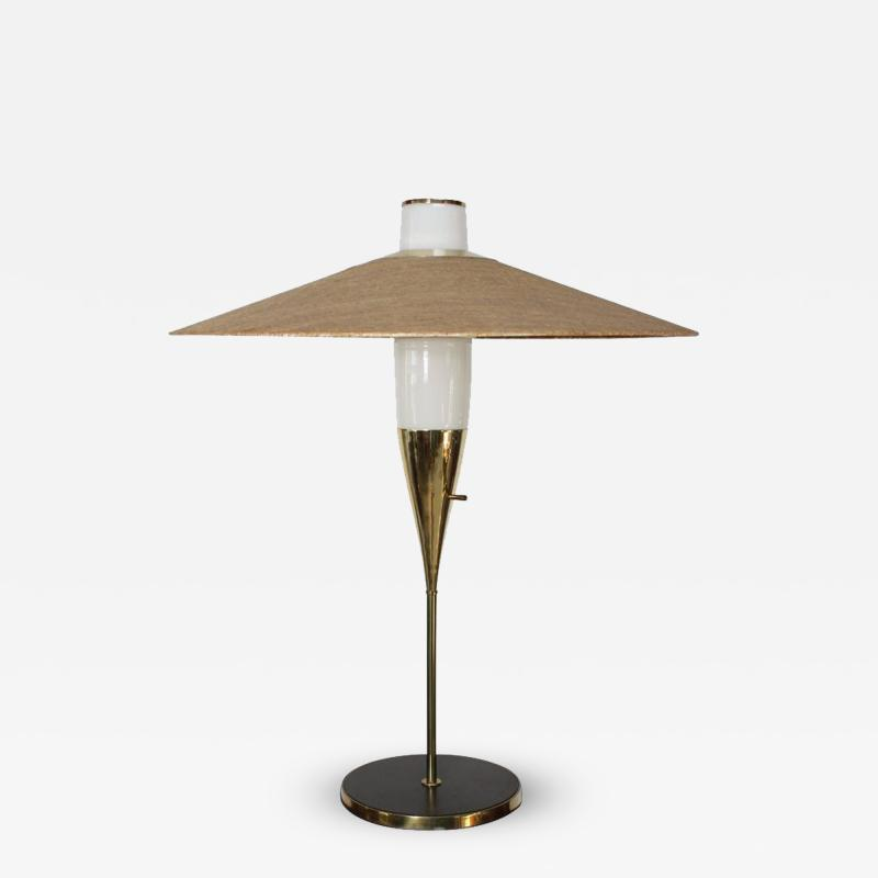 Raymond Loewy Rare Brass and Glass Table Lamp by Raymond Loewy for Stiffel Model 9659