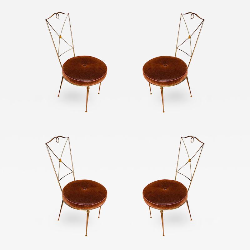 Raymond Subes Raymond Subes Set of 4 Wrought Iron Dining Chairs