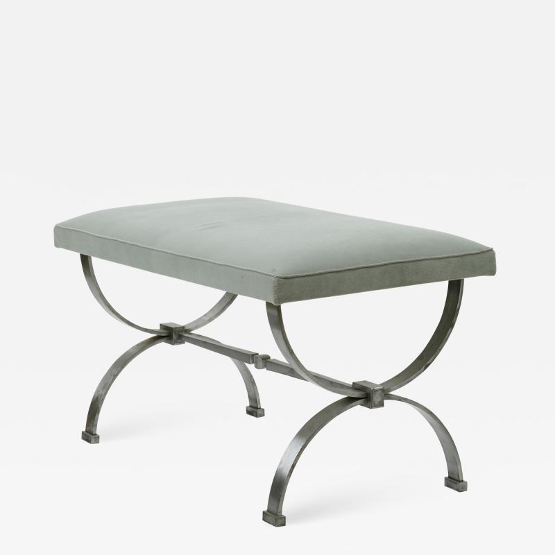 Raymond Subes Raymond Subes brushed iron base bench