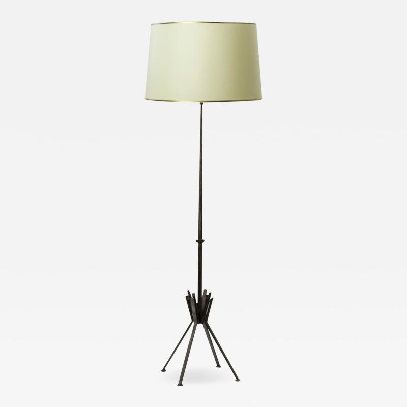 Raymond Subes Raymond Subes superb wrought iron floor lamp