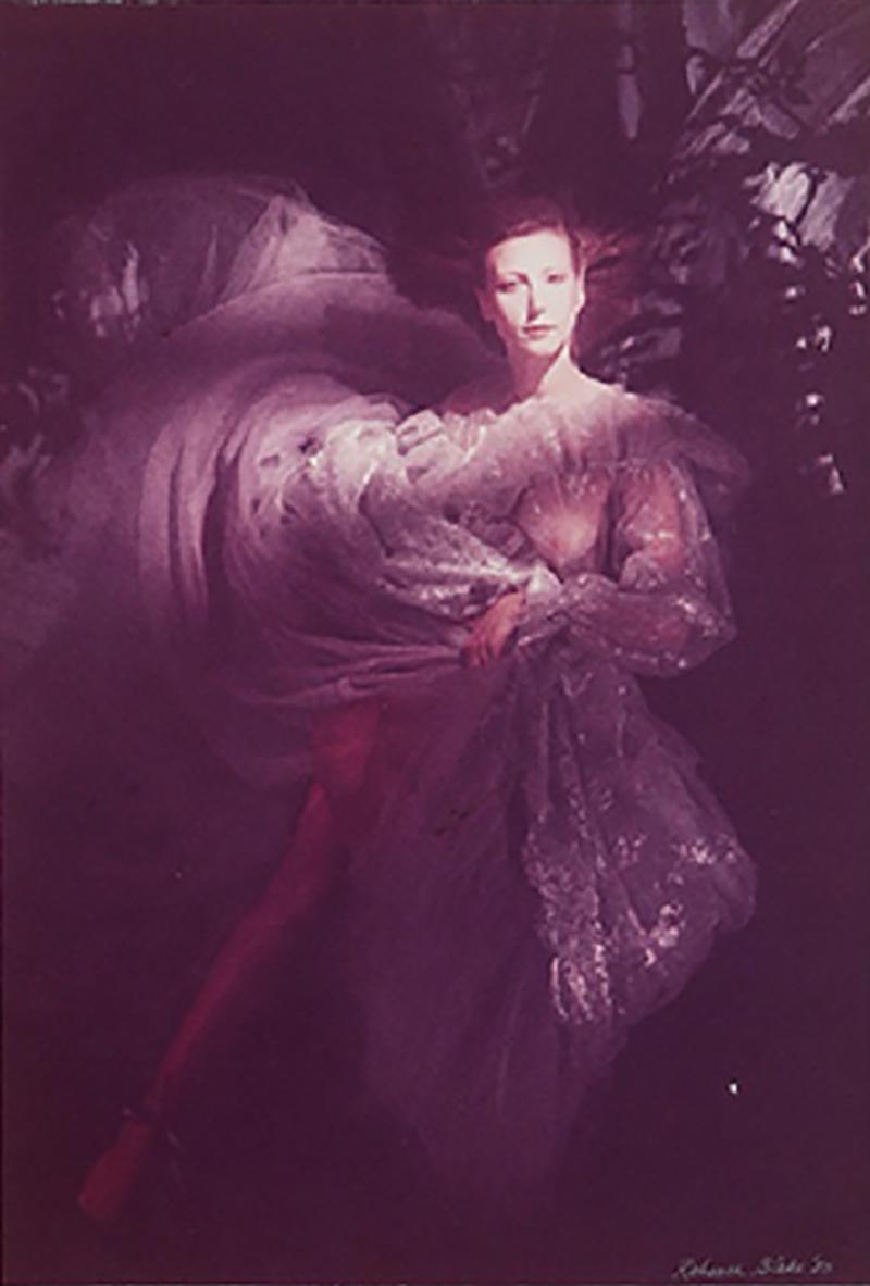 Rebecca Blake Model in Organza Gown