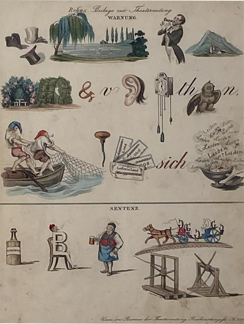 Rebus Picture puzzle Germany 19th Century