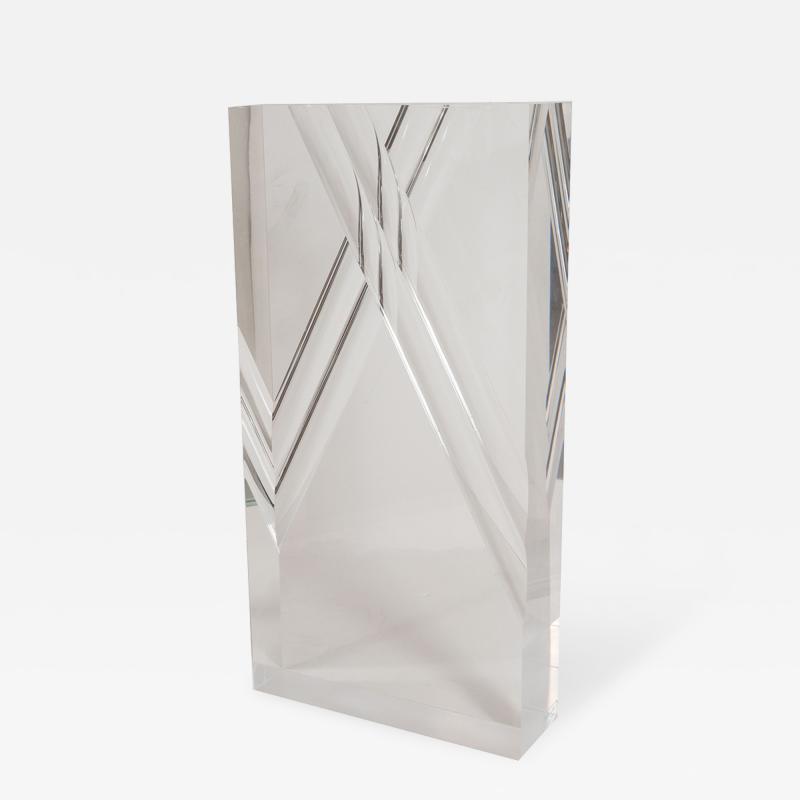 Rectangular Lucite Sculpture