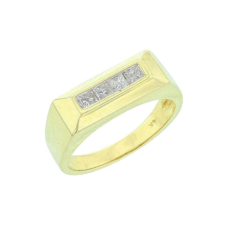 Rectangular Platform Diamond Ring